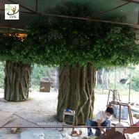 China UVG huge banyan artificial decorative trees with hollow trunk for school library landscaping GRE068 wholesale