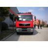China Six Seats Water Tanker Fire Truck Pump Flow 60L/S Aluminum Water Tank 5684L wholesale