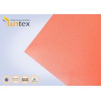 China High Temperature 550 C Degree Resistant Silicone Coated Fiberglass Fabric For Welding Curtain Welding Blanket wholesale