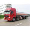 China 12 Wheels Sinotruk HOWO Oil Tanker Truck 30CBM Big Capacity 371HP Engine wholesale