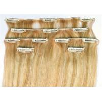 China Straight Clip In 100% Unprocessed Virgin Human Hair 16 Inch - 24 Inch Hair Extensions wholesale