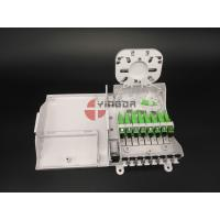 Buy cheap FTTH CPE Fiber Optic Termination Box With 1/8 Splitter SC G657A2 Corning LSZH from wholesalers
