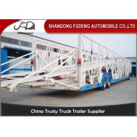 China Double Level Mechanical Car Transporter Trailer Open Design Three Axles on sale