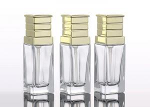 China 40ML Square Essence Emulsion Glass Cosmetic Bottles wholesale