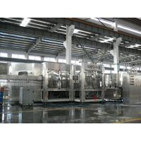 Quality 3-in-1 Carbonated Filling Machine For PET Bottle With 24 Rinsing Heads for sale