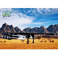 Buy cheap 3 Axles Commercial Gooseneck Flatbed Trailer High Strength Low Alloy Steel Material from wholesalers