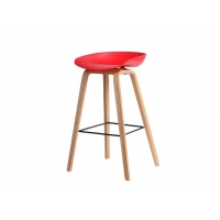 China Vintage PU Leather Counter Height Stools , Wooden Kitchen Bar Stools wholesale