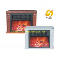 Quality Mini fireplace stove in wood grain paiting for carriable with plastic frame for sale