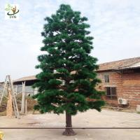 China UVG new outdoor christmas decorations artificial pine tree for road ornament made in china GRE065 wholesale