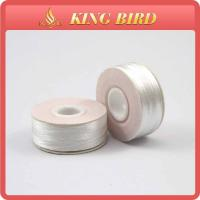 Quality Raw white Embroidery Bobbin Thread high tenacity , Spun Polyester Yarn for sale