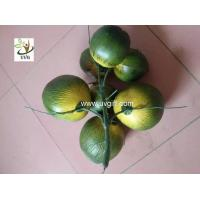Buy cheap UVG high simulation plastic artificial coconut for fake palm tree decoration from wholesalers