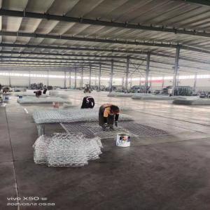China Galvanized coated 80 X 100mm Gabion weave 2x1x1m Wire Mesh hexagonal Hole wholesale
