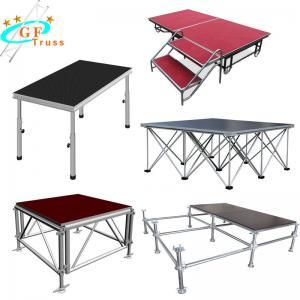 China Nonslip Alu 6061-T6 Portable Stage Truss 4 Legs Adjustable wholesale