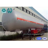 China Customized Logo Diesel Fuel Lpg Tank Trailer 200,000 Liters , Round Shape wholesale
