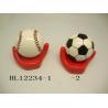 China Football And Baseball Ceramic Money Box Bank With Base 10 X 10  X 12 Cm wholesale
