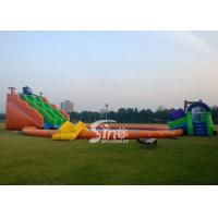China Kids N adults giant inflatable water park on land with big inflatable swimming pool N big octopus slide wholesale