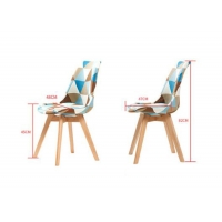 China Multifunctional Modern Contemporary Dining Room Chairs With Beech Wood Leg wholesale