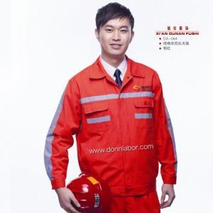 China High Visibility Orange Flame Retardant Reflective Safet Work Uniform wholesale