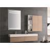 China Anti Fog LED Bathroom Light Mirror / Vertical Illuminated Smart Bathroom Mirror wholesale