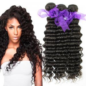 China Peruvian Deep Wave HairBundles No Shedding , Peruvian Hair Deep Body Wave wholesale