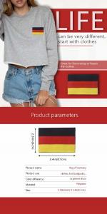China Hot Cutting 50% 75% 100% Embroidered National Flag Patches wholesale