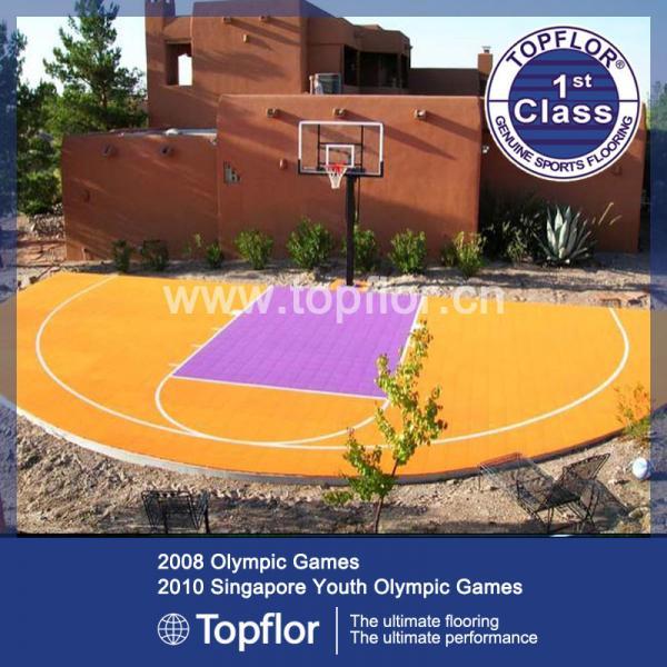 Cheap Basketball Flooring PP Interlocking Floor for backyard for sale
