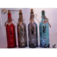 China Electroplate Finish Wine Bottle Led Lights With Paint Color / Words wholesale