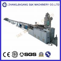 Quality 75-160mm Plastic Water Pipe Extrusion Process , Pvc Pe Pp Pipe Production Line CE Certificate for sale