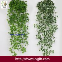 China UVG 90cm long artificial grape vines fake ivy with plastic leaf garland for garden ornament BHP01 wholesale
