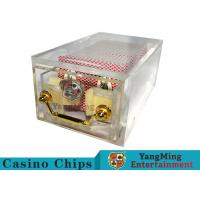 Acrylic Casino Card Shoe 8 Deck Large Capacity With Bright Metal Lock for sale