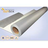 China SUNTEX One Side Silicone Coated Fiberglass Cloth Steam Pipe Insulation Material wholesale
