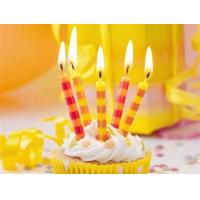 China Colorful Streak Printable Birthday Candles Long Burning Time No Dripping Unscented wholesale