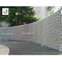China UVG 2.5m curved big fake flower wall wedding backdrops in silk rose and hydrangea for sale wholesale