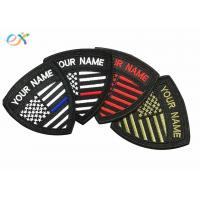 China Small US Embroidered Military Patches , Embroidery Name Patch For Military Uniform wholesale