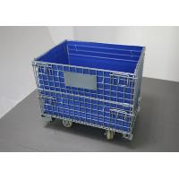 China Cold galvanized collapsible metal turnover box with hollow board on sale