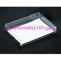 China Acrylic office supplies clear portable memo holder made in china wholesale