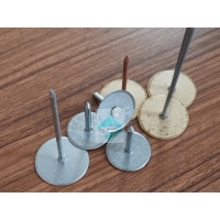 China 12Gauge 38mm Ductwork Metal Cupped Head Weld Pins , Rock Wool Insulation Weld Nails For HAVC System wholesale