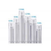 China White Color Cosmetic Plastic Packaging Bottles With Sprayer Pump wholesale