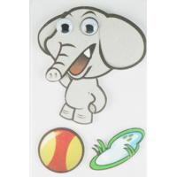 China Soft Kids 3D Cartoon Stickers Promotional Baby Elephant Wall Stickers  wholesale