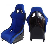 Quality Fabric + Blk Fiber Glass Bucket Racing Seats With Belt Harness Holes wholesale