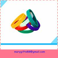 Quality wholesale gift fashion silicone wristband bangles wholesale
