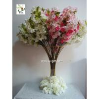China UVG pink artificial cherry blossom branch in silk flowers for wedding decoration CHR091 wholesale