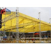 China LED Screen Aluminum Stage Truss , Portable Stage Lighting Truss 15 X 25m Size wholesale