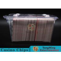 Anti - Theft Transparent 8 Decks Poker Discard Holder For Card Entertainment for sale