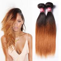 China Grade 7A Ombre Human Hair Extensions Ombre Brazilian Straight Hair wholesale