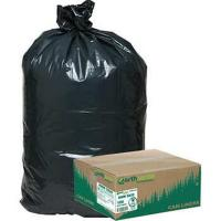China Black PLA Compostable / Biodegradable Plastic Garbage Bags Heat Sealing Type wholesale