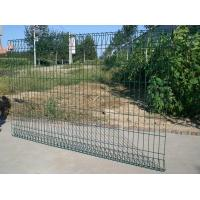 Quality Triangle Bending White Garden Wire Fence With Plastic Vinyl Coated for sale