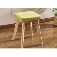 China Soft Upholstered Modern Dressing Stool Chair With Solid Wood Frame wholesale