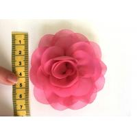 China Rose Design Handmade Fabric Corsage Flower For UK High Street Shop Brand wholesale