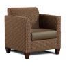 China Custom Singe Hotel Lobby Sofa , Fabric Sectional Sofas Dark Color wholesale